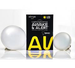 Lighting Science's Awake & Alert LED bulbs and box