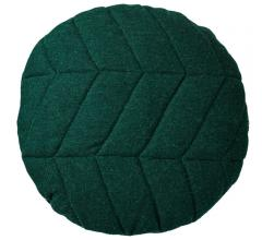 Green Wool Pillow with a leaf design from Bloomingville