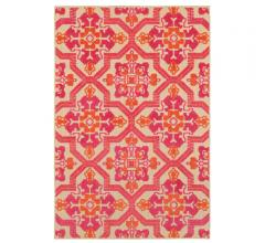 Cayman Area Rug in orange, pink and yellow with a floral pattern from Oriental Weavers