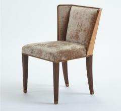 D'Oro Chair in a silvery velvet fabric and wingback design from Global Views