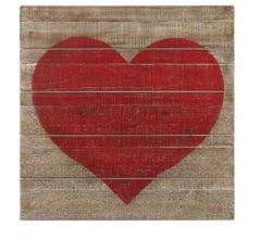 Heart wall art on wooden backboard from MWCBK
