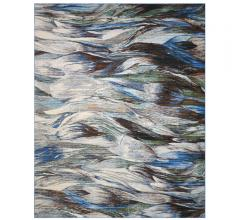 Chroma Aegean Area Rug in an abstract design with grays, blue and greens from Nourison