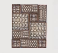 Saigon Panels in brown with connected squares and rectangles from Studio A Home