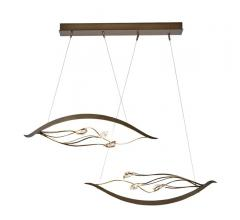Courbé Duet LED Pendant with two eye-shaped lights from Synchronicity by Hubbardton Forge