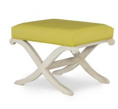 Serena ottoman with sloping white legs from Wesley Hall