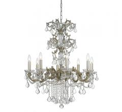 Highland Park Chandelier in a traditional, ornate style with dripping crystal accents from Crystorama