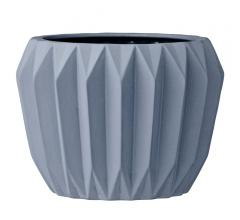 Bloomingville Blue Fluted Flower Pot