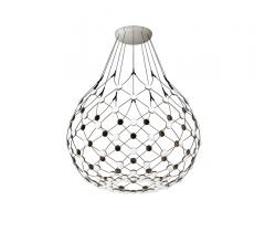 Mesh Suspension Lamp with integrated LED lights from Luceplan