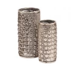 Howard Elliott Alligator Textured Vase Set