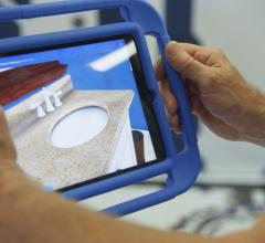 The augmented reality technology at Lowe's allows customers to visualize products in their space. (Photo: Lowe's)