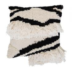 Bloomingville Black and White Textured Pillow