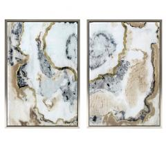 Nakasa Agate Profile Acrylic Framed Wall Decor