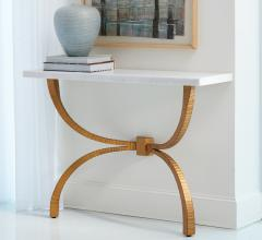 Tenton console with Gold Leaf finished legs and a marble top from Global Views