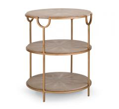 Vogue Shagreen Side Table from Regina Andrew Design