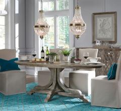 Classic Home's Aimee dining set with two chandeliers