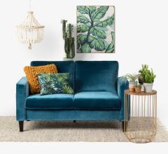 South Shore Live It Cozy sofa in Velvet Blue