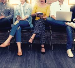 row of Millennials sitting