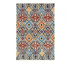 Venice BEach area rug with an ivory background and a multi-color print from Loloi Rugs