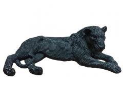 Black diamond jaguar statue