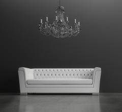 Adobe stock couch and chandelier