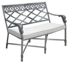 Castelle metal garden bench