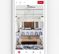 Pinterest pin of a dining room