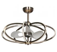 Solstice LED Fandelier with a gold finish and white blade from Maxim Lighting