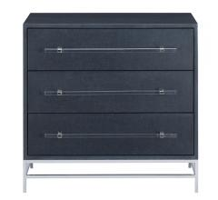 Currey & Co. moody blue chest