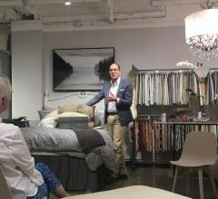 Paul Thompson speaking in the Daniel Stuart Studio at Dallas Market Center
