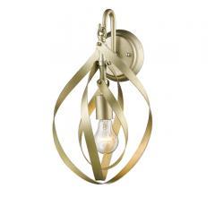 Nicolette one-light Wall Sconce in Satin Brass from Golden Lighting