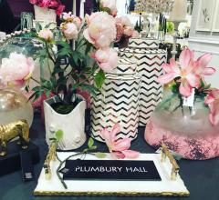 Plumbery Hall collection of faux florals and ceramics from Napa Home and Garden