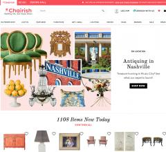 Home page of Chairish.com