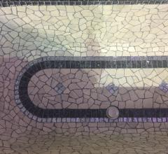 Mosaic-tiled bathtub from West Coast Mosaic