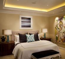 bedroom linear cove lighting