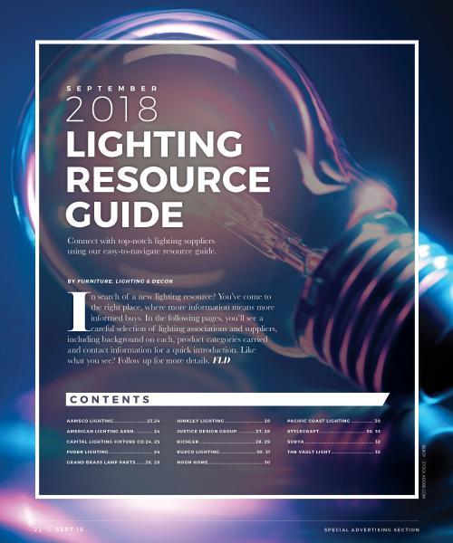 September 2018 Lighting Resource Guide