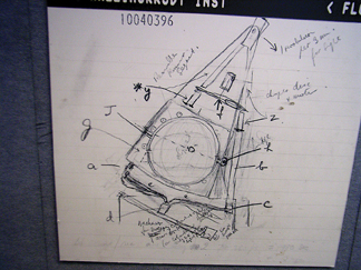 Sketch of original Houndsfield CT scanner.