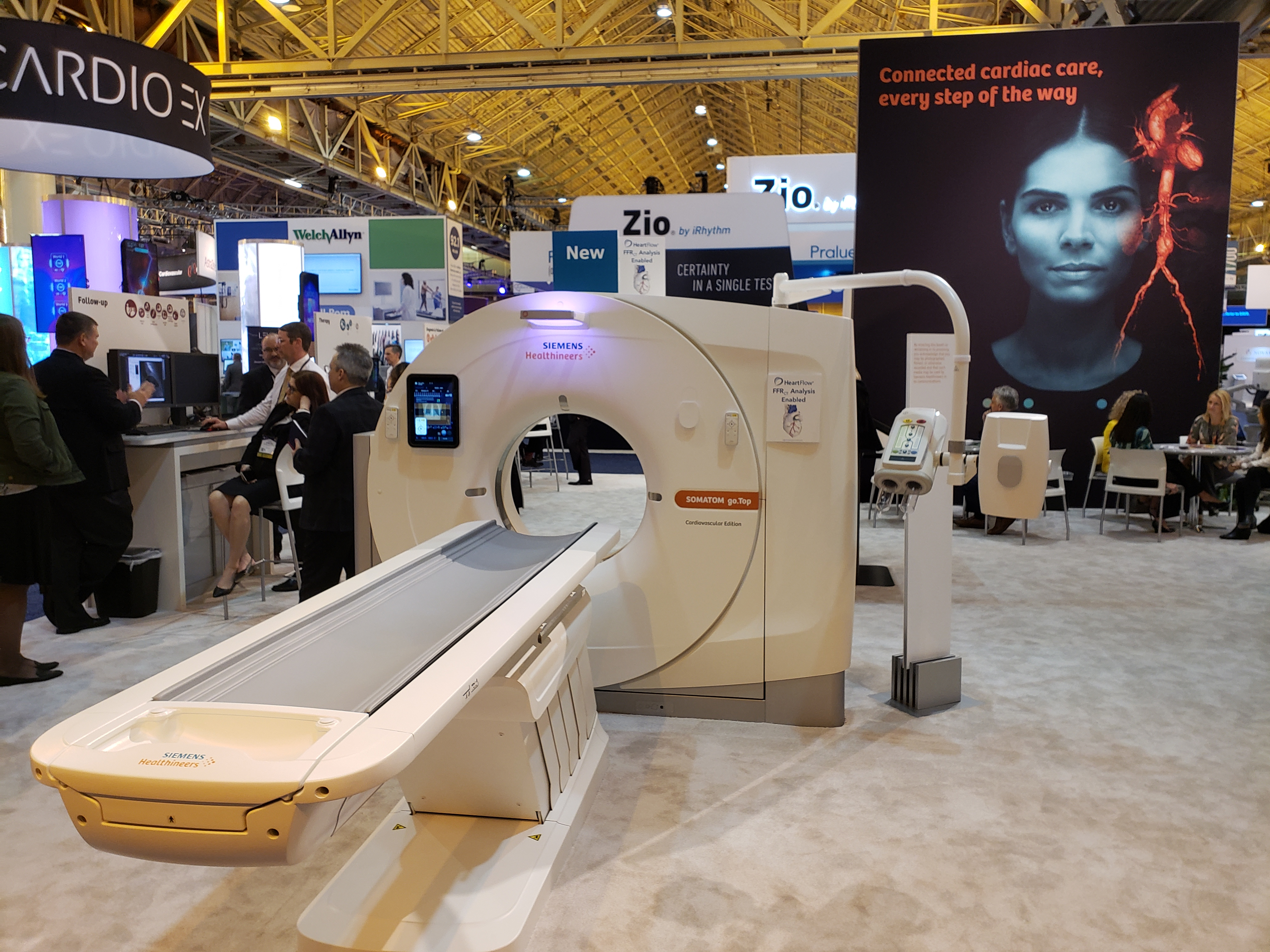 At ACC 2019, Siemens unveiled a version of its go.Top CT optimized for cardiovascular imaging. The newly packaged scanner can generate data needed to do  CT-based FFR (fractional flow reserve).