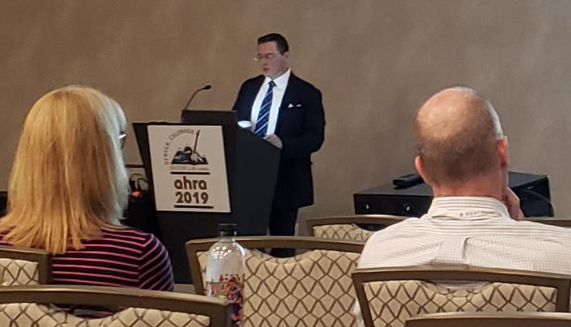 "John Carrino, M.D., M.Ph., presents ""Challenges and Opportunities for Radiology to Prove Value in Alternative Payment Models"" at AHRA 2019"