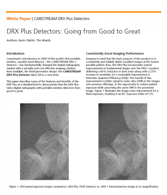 White Paper: DRX Plus Detectors: Going from Good to Great