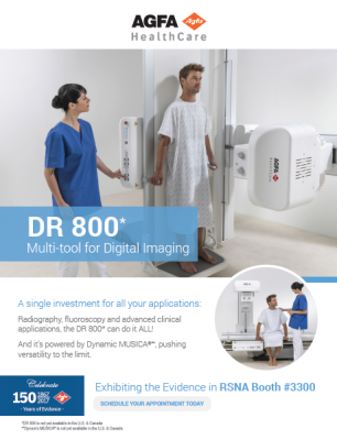 Go Hands-on at RSNA: DR 800 Multi-tool for Digital Imaging