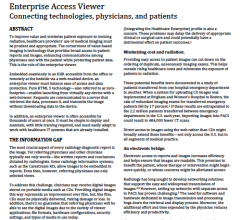 Enterprise Access Viewer: Connecting Technologies, Physicians, and Patients