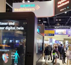 """Siemens featured digitalization and the prospect of a """"digital twin"""" in its HIMSS19 booth"""