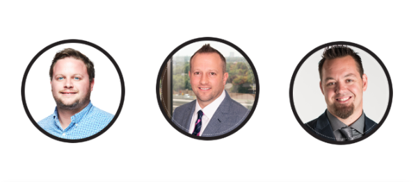 Young home building industry leaders include Matthew Wilson, Chris Hartley, and Michael Freiburger.