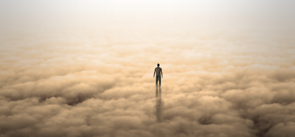 Illustration of man in clouds_rolffimages / stock.adobe.com