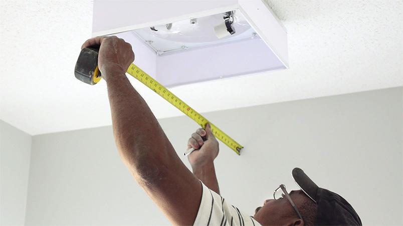 Electrician doing installation Marv Verlage / Levven Electronics
