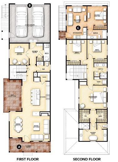 house review-DTJ-narrow lot-floor plans