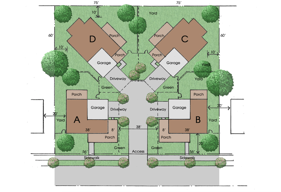 Donald F. Evans Mayberry Quads site plan