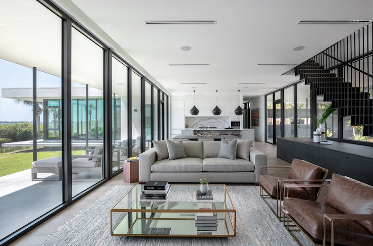 2019 Professional Builder Design Awards Project of the Year Gold living room and kitchen