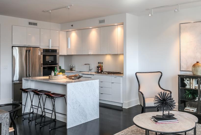 2019 Professional Builder Design Awards Gold Award Multifamily 10Eleven kitchen living