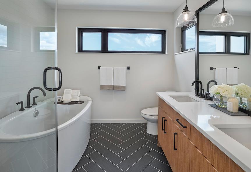 2019 Professional Builder Design Awards Gold Infill bathroom